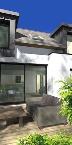 penty et maisons bretonnes sur pinterest r novation extensions et baies. Black Bedroom Furniture Sets. Home Design Ideas