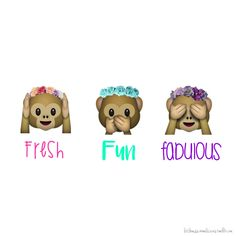 emoji monkey with flower crown wallpaper - Google Search