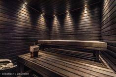 Lighting for sauna? Saunas, Sauna Shower, Outdoor Sauna, Sauna Design, Finnish Sauna, Sauna Room, Modern Craftsman, Spa Rooms, A Frame House