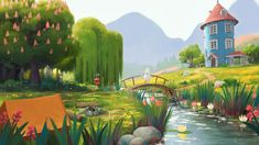 ArtStation - Moominvalley Concept Art / Seasons in Moominvalley, Tuomas Korpi Fantasy Illustration, Character Illustration, Four Seasons Art, Terror In Resonance, Moomin Valley, Environment Design, Character Design References, Aesthetic Art, Tag Art
