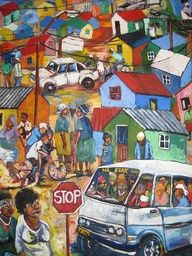 Darling, South Africa by Guillaume Emaresi Afro, Black Art Painting, African Paintings, South African Artists, African American Art, Naive Art, Folk Art, Amazing Art, Art Photography