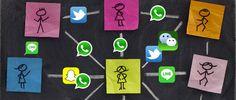 La frontera entre servicio de comunicación puro tipo WhatsApp y red social es tenue y dinámica. Hay vida y mucha más allá de WhatsApp, vida en forma de aplicaciones alternativas y en forma de redes sociales. Logos, Socialism, Shape, Social Networks, Life, Logo