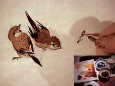 Raggedy Sparrow Practice 5 / Chinese Brush Painting Birds Animals Flowers