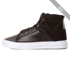 Charlotte Russe Qupid Mixed Media High-Top Sneakers