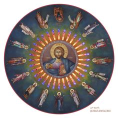 Michael ALEVYZAKIS was born in Rethymno, Crete, in has been involved in painting since with F. Theodosaki and T. Riga as teachers. Byzantine Icons, Byzantine Art, Religious Icons, Religious Art, Jesus Painting, Painting Art, Christian Mysticism, Church Icon, Church Interior
