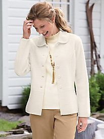 Boiled-Wool Seamed Jacket by Appleseed's