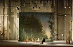Just an example of how perspective painting can be used in this play for set design. The set will be extremely minimal, with only a few chairs. However, the painting in the back will be large and elaborate of the palace --AR