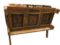 Vastu Chakra Carved Chest Antique Console Sideboard $1,199.00