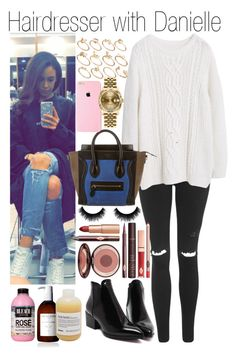 """""""Hairdresser with Danielle"""" by kiksfashion ❤ liked on Polyvore featuring Topshop, Violeta by Mango, CÉLINE, Charlotte Tilbury, Sachajuan, Davines, Rolex, ASOS, women's clothing and women's fashion"""