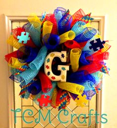 Personalized Autism Wreath