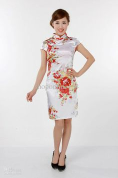 Traditional Chinese ethnic dress silk cheongsam evening dress sexy  cheongsams sexy cheongsam dress Vestidos Tradicionales 61009ee371d7
