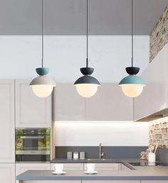 Savie Nordic Modern Pendant Light – Mint Bliss Decor Diy Interior, Scandinavian Interior, Interior Styling, Blue Pendant Light, Modern Pendant Light, Kitchen Pendant Lighting, Kitchen Pendants, Hard Cord, Sun Lamp
