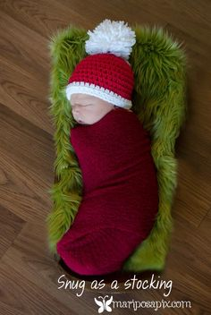Oh my gosh, adorable!  Little Christmas baby :-)