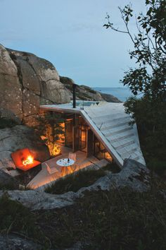 Cabin in Sandefjord, Norway by Lund Hagem Architecture.