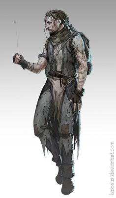 Medieval concept - A vagrant by katorius