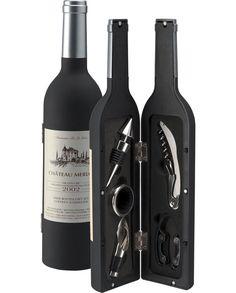 Rosso - Wine Set - 5 Bottles - H33cm - Dorre