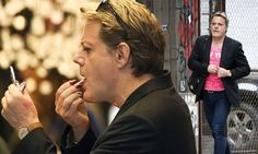 Eddie Izzard walks confidently in heels and tries out lipstick