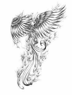 Artur mura phoenix custom tattoo designs on tattoo ideas for men phoenix meaning and designs Kunst Tattoos, Neue Tattoos, Body Art Tattoos, Tatoos, Wing Tattoos, Crow Tattoos, Tattoos Skull, Dragon Tattoos, Phoenix Bird Tattoos
