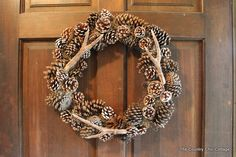 Pottery Barn Faux Antler Wreath - So I am in love with antlers as of late. When I saw a faux antler wreath in the Pottery Barn catalog.well I was SOLD. Fall Wreaths, Christmas Wreaths, Christmas Ornaments, Christmas Decorations, Christmas Ideas, Christmas Crafts, Holiday Decorating, Rustic Wreaths, Decorating Ideas