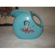 Fiesta® Turquoise Betty Boop Disc Pitcher made by Homer Laughlin China Company   The Find