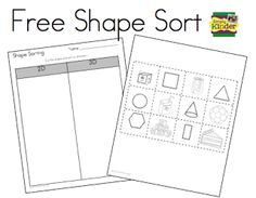 Shape Sorting - Is it 2D or 3D?  (Freebie from Simply Kinder.)