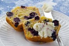 GF Cornbread Blueberry Muffins