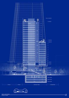 Renzo Piano Gains Planning Permission for Shard-Adjacent Residential Tower,North-South Section. Image Courtesy of RPBW