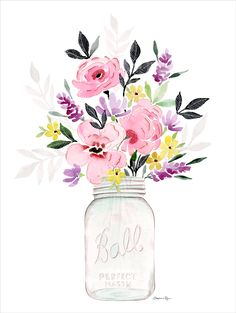 On days where it's too cold (or hot!) to pick fresh wildflowers and arrange them ever-so-perfectly in a Mason jar, this art print does it for you. Stephanie Ryan Design Studio; $26 from the Country Living Shop   - CountryLiving.com