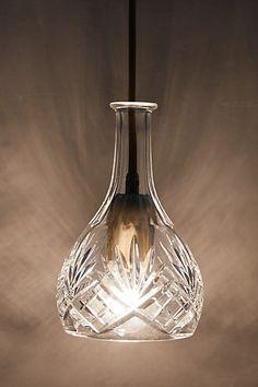 Hand-Cut Decanter Pendant Lamp, Bell - anthropologie.com