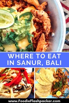 The best restaurants in Sanur, Bali Indonesia.