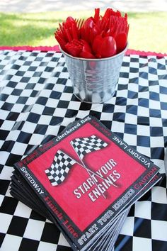 Hostess with the Mostess® - Zoom Zoom Race Car 5th Birthday Party