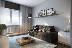 Minimalist and modern living room design Modern Studio Apartment Ideas, Studio Apartment Design, Loft Style Apartments, Studio Apartments, Interior Design Living Room, Living Room Designs, Studios, Interior Minimalista, Living Room Grey