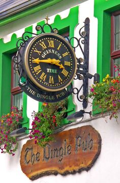 The Dingle Pub, Main Street, Dingle, County Kerry, Ireland. This pub has wonderful traditional Irish Music and the pints are not bad either. Love Ireland, Ireland Travel, Ireland Pubs, Pub Signs, Shop Signs, William Adolphe Bouguereau, Irish Roots, Irish Eyes, Luck Of The Irish