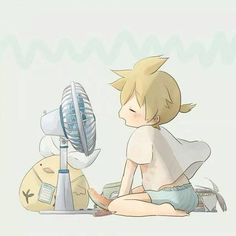 Hi, I'm Kagamine Len. I'm 14 years old and Rin's twin brother. I like banannas and riding the road roller. Also, Rin likes to scare my by popping up behind me. I also die a lot and am currently overheated.