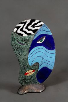 Five contemporary American ceramic artists that use abstract concepts in their decorative styles that I feel are a skilful and intuitive representation of this deep and fascinating medium. Ceramic Figures, Ceramic Artists, Aboriginal Painting, Clay Bowl, Modern Ceramics, Clay Creations, Clay Crafts, Clay Art, Abstract Art