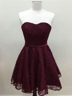 A-line Princess Sweetheart Grace Homecoming Dresses,Mini Dresses APD2735 sweetheart neck lace dresses, simple grace dresses,