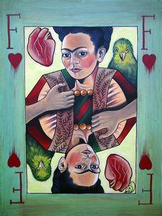 Frida, Queen of Hearts -artist unknown