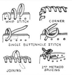 Use baseball stitch to sew up thick or thick areas of