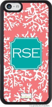 Coral Monogram iPhone 5c Slim Fit Cover - DESIGN YOUR OWN!