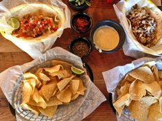 Tacos and chips from Sure Fire Tacos and Tortilla Grill, Columbia, SC