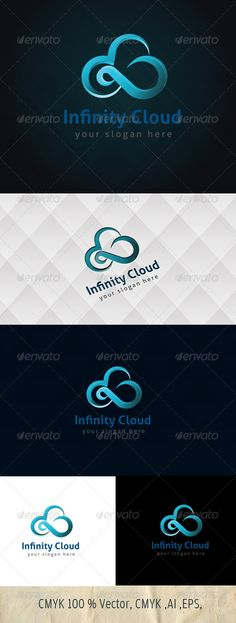 Logo for sale just 29$ Infinity Cloud