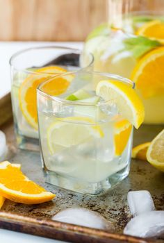 Easy Sangria Lemonade made with rum and white wine is a refreshing batch…