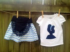 Modern Disney outfit.  Cinderella/princess inspired Disney outfitt on Etsy, $39.00
