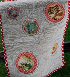 Mini quilt for local store windows event