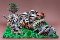 Party on, Victorian dudes. Steampunk LEGO Party.