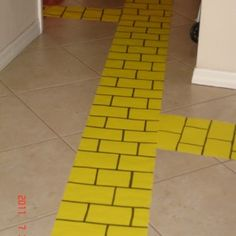 Fun Wizard of Oz party... yellow brick road for trunk or treat.