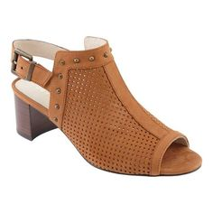 e03ac05d2a4 Women s David Tate Pompei Slingback Sandal - Luggage Perforated Nubuck  Sandals