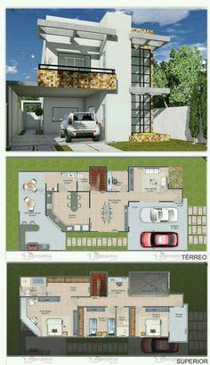 Pinterest: @claudiagabg | Casa 3 cuartos 1 estudio