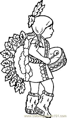 pow wow dancers coloring pages - photo#18