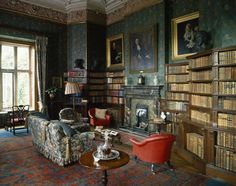The Library at Dunster Castle